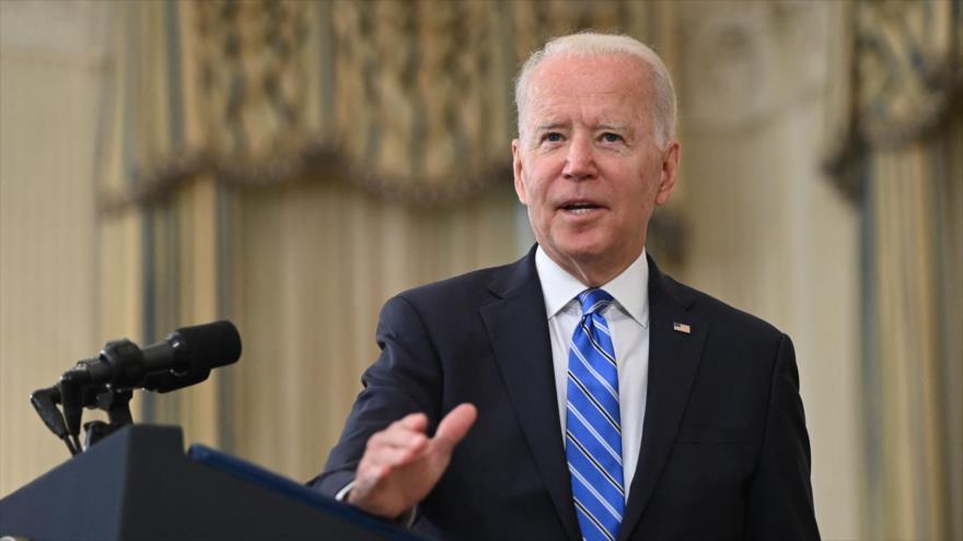 El presidente de EE.UU., Joe Biden, ofrece un discurso en Casa Blanca en Washington D.C., la capital, 19 de julio de 2021. (Foto: AFP)