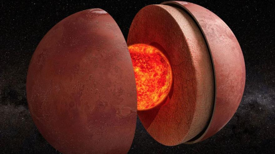 Marte, según los nuevos datos obtenidos por la misión InSight de la NASA, tendría un núcleo líquido con un radio aproximado de 1830 kilómetros. (Foto: Internet)