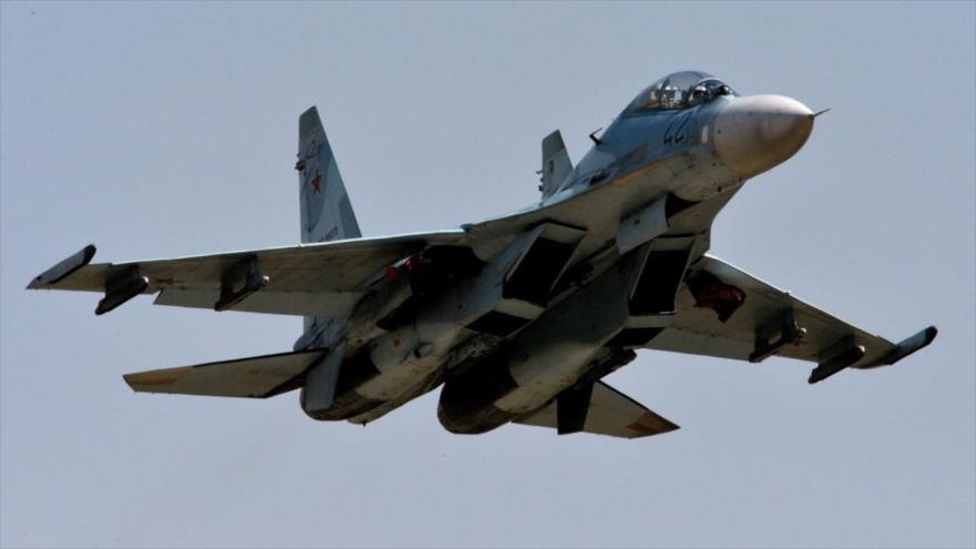 Un caza Su-27 de la Fuerza Aérea de Rusia. (Foto: Sputnik)