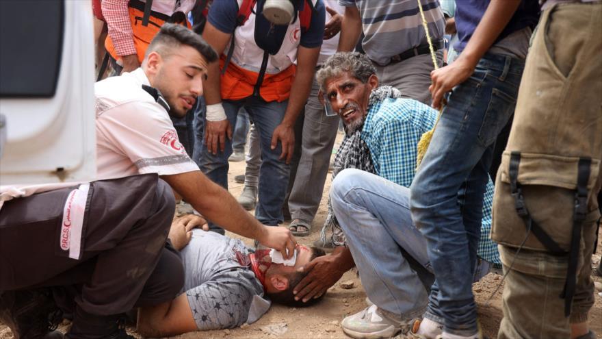 Agresión de las fuerzas israelíes deja más de 150 civiles heridos
