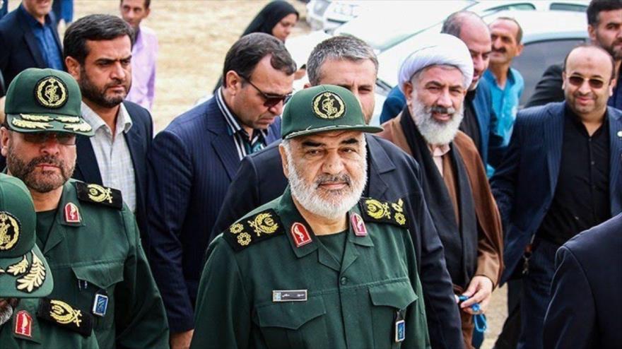 El comandante en jefe del Cuerpo de Guardianes de la Revolución Islámica (CGRI) de Irán, Hosein Salami. (Foto: Tasnim)