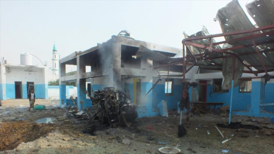 El Hospital Abs, en la provincia yemení de Hajja, destruido por ataques de Arabia Saudí. (Foto: Reuters)