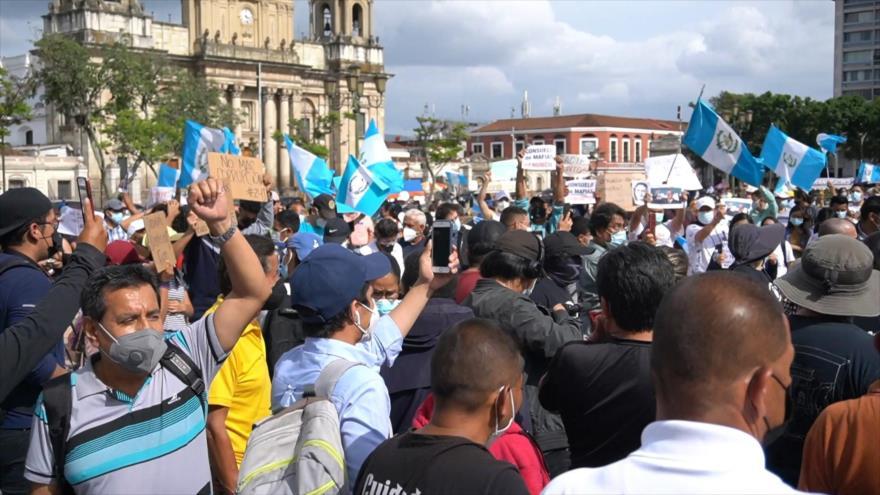 Guatemaltecos salen a protestar en contra de la fiscal general | HISPANTV
