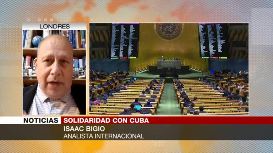 """Bigio: El embargo de EEUU a Cuba es como un """"bombardeo armado"""""""