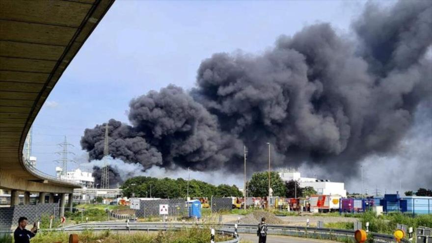Vídeo: explosión en una zona industrial de Leverkusen, Alemania