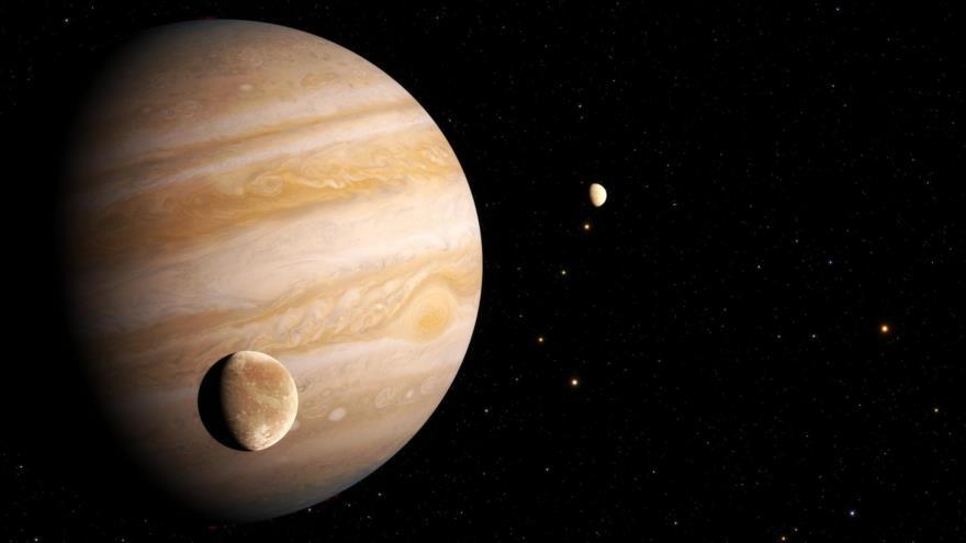 Representación artística de Ganímedes, luna de Júpiter. (Foto: ESA)