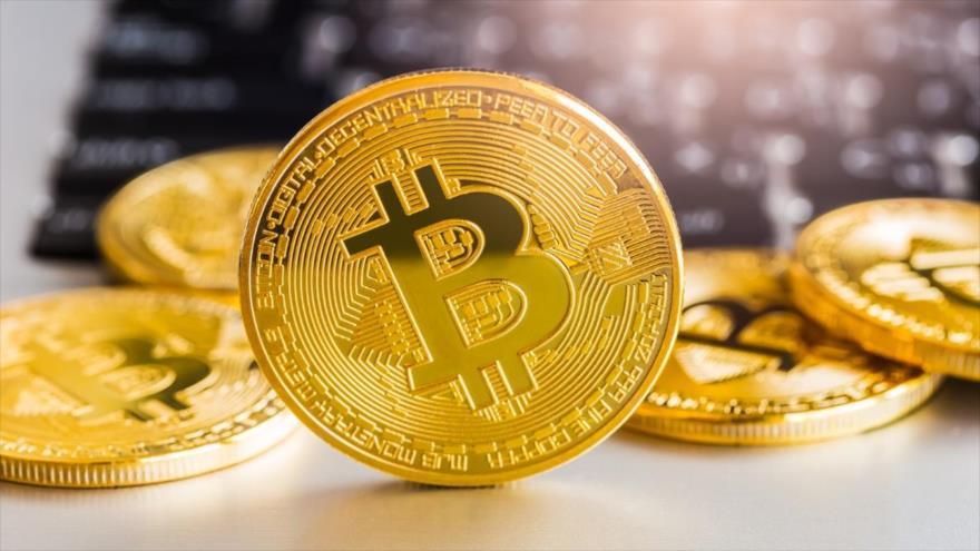 Una representación de la criptomoneda bitcóin.