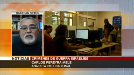 Pereyra: EEUU, socio de Israel en crímenes de guerra contra palestinos
