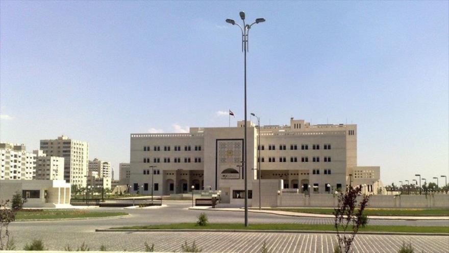 El edificio de la Cancillería de Siria, situado en Damasco, la capital siria.