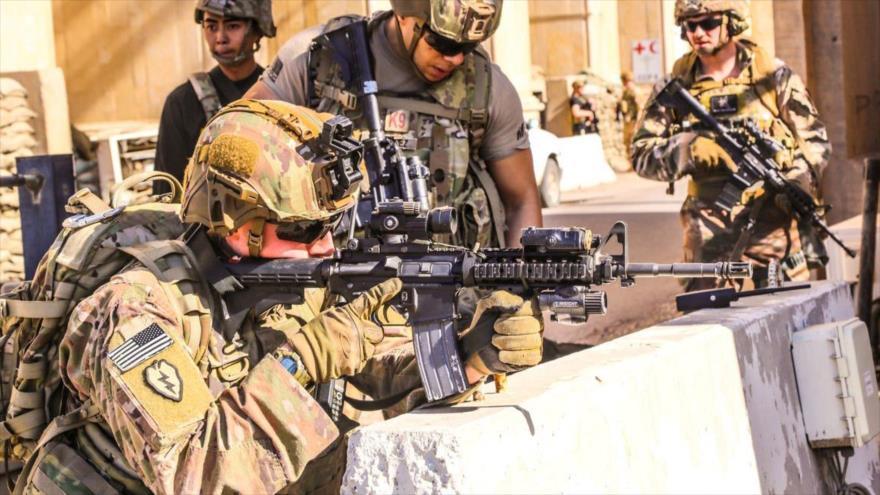 Tropas de EE.UU. en Bagdad, capital iraquí, 31 de diciembre de 2019. (Foto: Reuters)