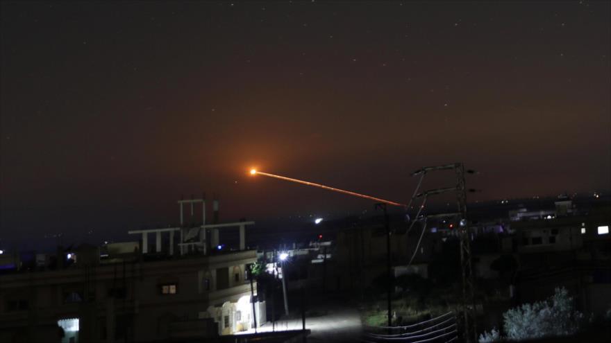 Un ataque con misil de Israel contra Daraa, Siria. (Foto: Reuters)