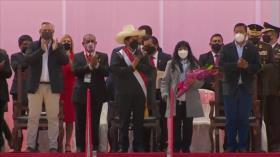 Pedro Castillo se juramenta simbólicamente en Ayacucho