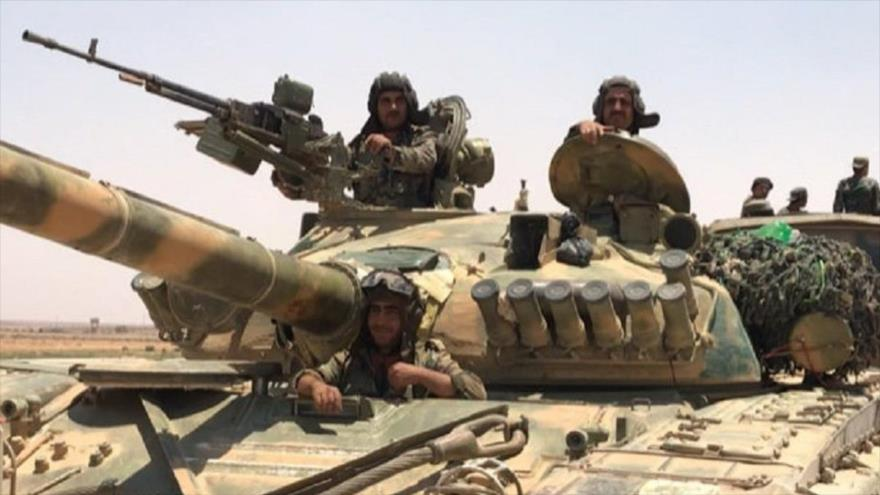 Militares del Ejército sirio durante una operación en la provincia de Daraa. (Foto: Sputnik)