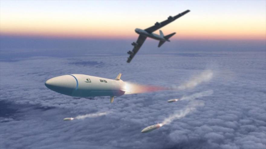 Foto representativa de un misil hipersónico AGM-183A de la Fuerza Aérea de EE.UU.