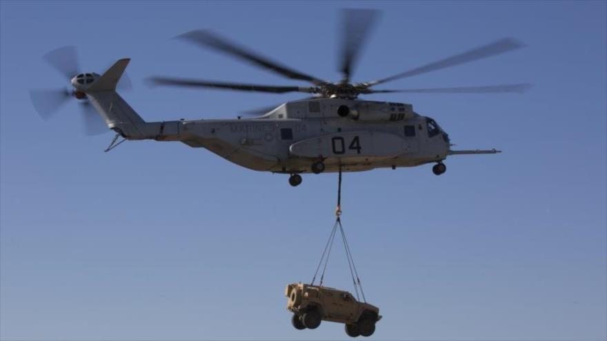 Un helicóptero militar estadounidense CH-53K.
