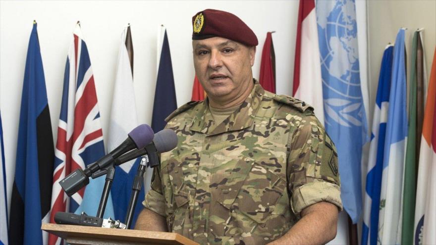 El comandante de las Fuerzas Armadas de El Líbano, Joseph Aoun.