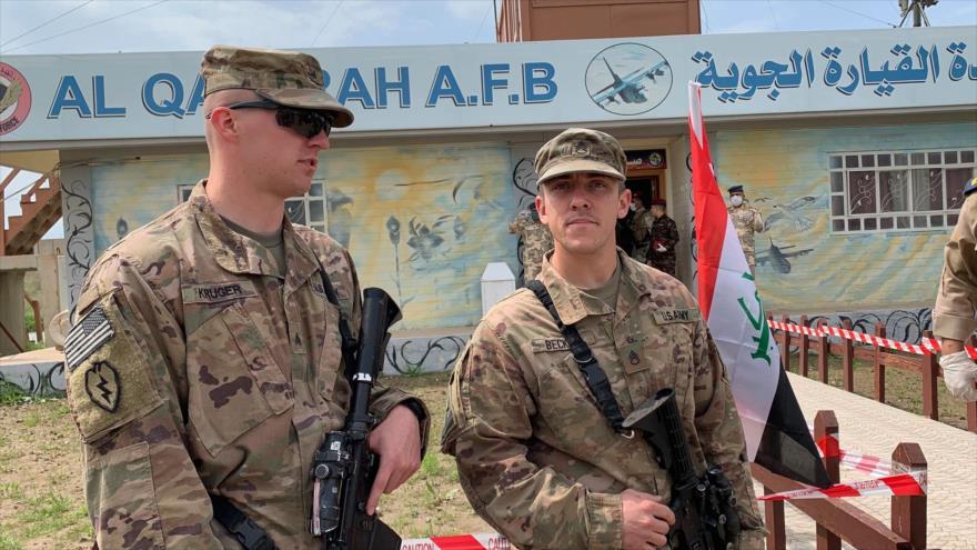 Soldados estadounidenses montan guardia en el sur de Mosul, Irak. (Foto: AP)