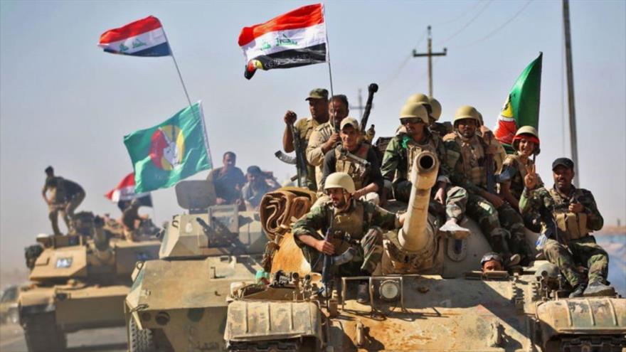 Las Unidades de Movilización Popular de Irak (Al-Hashad Al-Shabi, en árabe) durante una operación.
