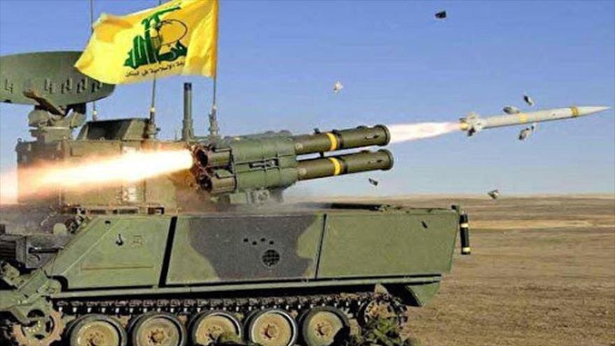 Lanzamiento de un misil del Movimiento de Resistencia Islámica de El Líbano (Hezbolá).