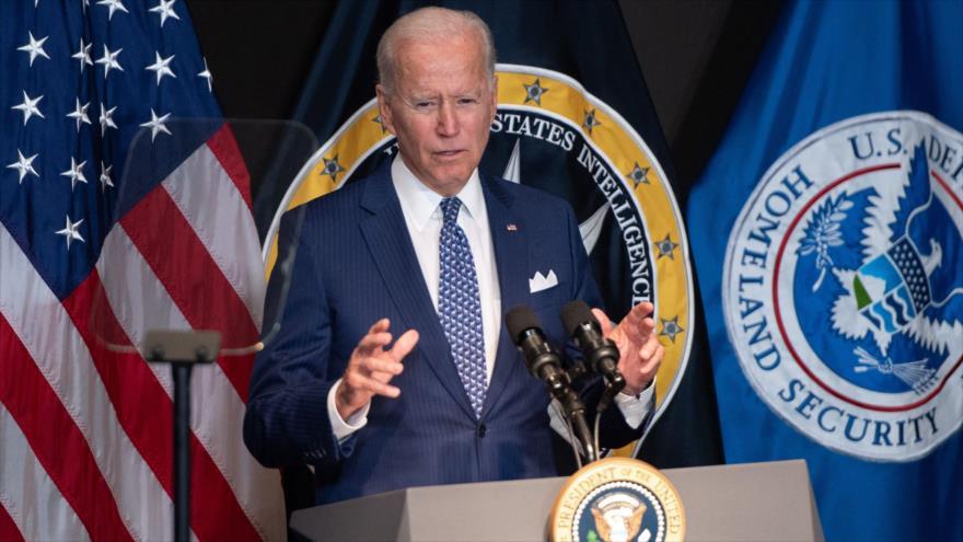 El presidente de EE.UU., Joe Biden, ofrece un discurso en McLean, Virginia, 27 de julio de 2021. (Foto: AFP)