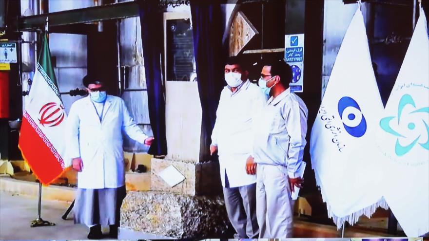 Irán abre tres centros importantes en el ciclo del combustible nuclear en el complejo Ardakan, Yazd, 1 de agosto de 2021. (Foto: Presidente.ir)
