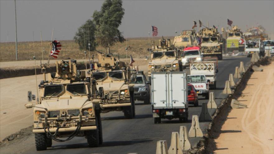Un convoy militar de EE.UU. en las afueras de Duhok, Irak, 21 de octubre de 2019. (Foto: Reuters)