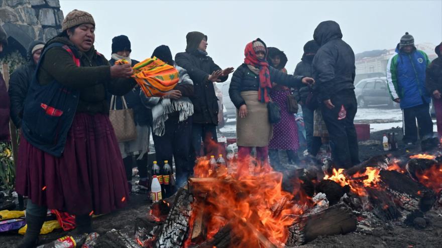 En imágenes: Indígenas bolivianos celebran Día de Madre Tierra