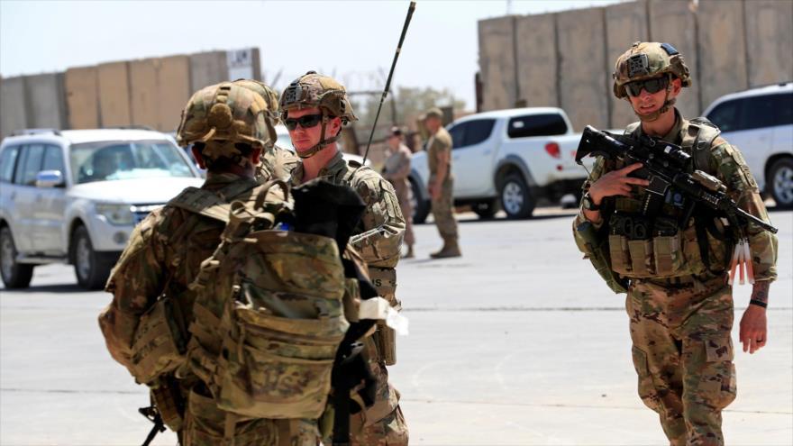 Soldados estadounidenses en la base militar de Taji al norte de Bagdad, capital de Irak, 23 de agosto de 2020. (Foto: Reuters)