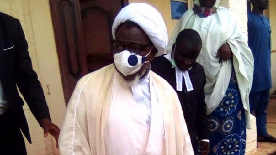 El líder nigeriano el sheij Ibrahim al-Zakzaky, en la ciudad de Kano (norte de Nigeria) tras su liberación, 28 de julio de 2021.