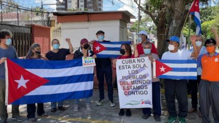 Guatemaltecos se solidarizan con el pueblo cubano