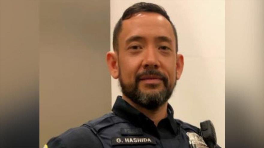 Gunther Hashida, miembro de la Policía Metropolitana de Washington.