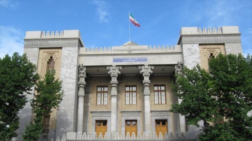 El edificio de la Cancillería de Irán en Teherán, la capital.