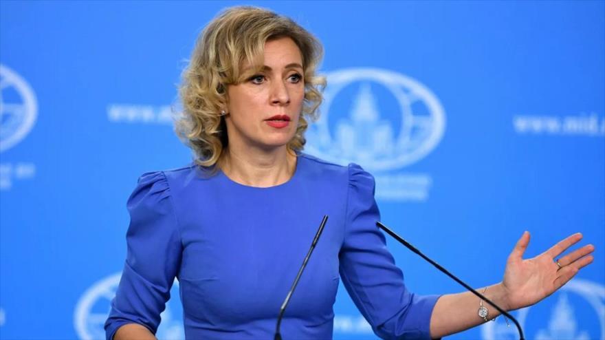 La portavoz del Ministerio de Asuntos Exteriores de Rusia, María Zajárova. (Foto: Sputnik)
