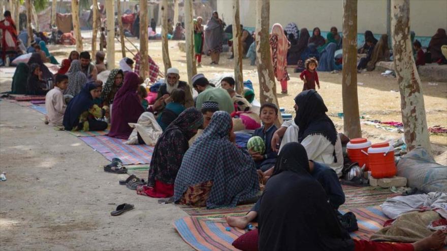 Los refugiados afganos en Kandahar, sur de Afganistán, 27 de julio de 2021.