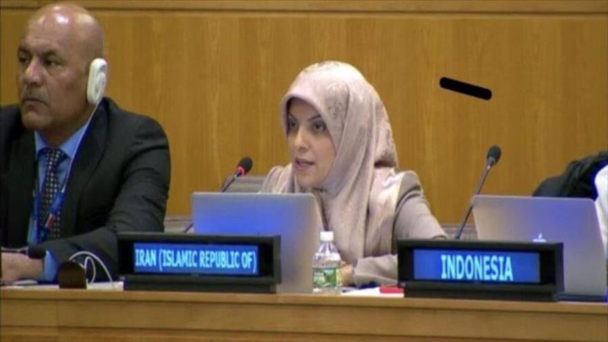 La representante permanente adjunta de la República Islámica de Irán ante las Naciones Unidas, Zahra Ershadi.