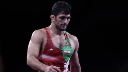 Hasan Yazdani gana plata en lucha libre para Irán en JJOO de Tokio