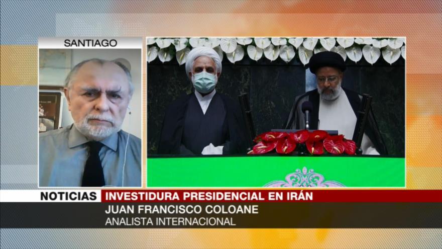 Coloane: Asistencia a investidura de Raisi confirma apoyo a Irán