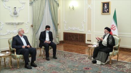 """Irán y Palestina refuerzan hermandad con miras a """"gran victoria"""""""