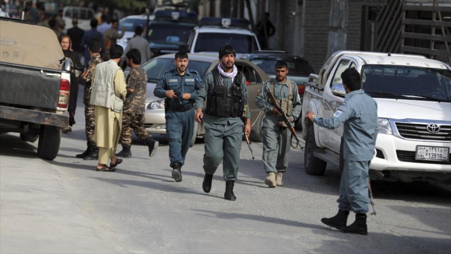 Las fuerzas de seguridad afganas en Kabul, la capital, 6 de agosto de 2021. (Foto: AP)