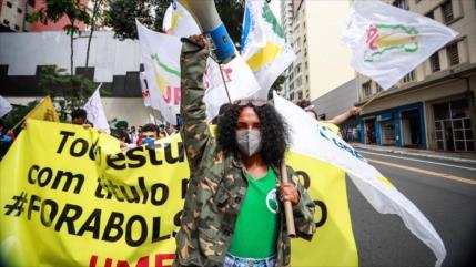 Vídeo: Estudiantes de Brasil piden dimisión del presidente Bolsonaro