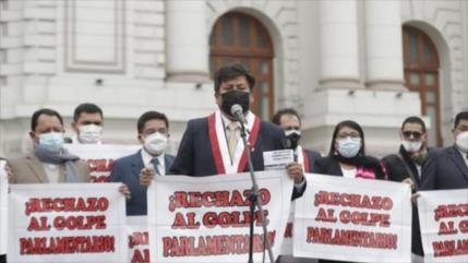 """Perú Libre alerta de un """"golpe parlamentario"""" contra Pedro Castillo"""
