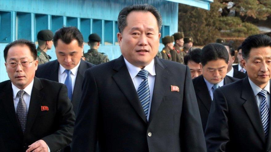 El ministro de Relaciones Exteriores de Corea del Norte, Ri Son Gwon.