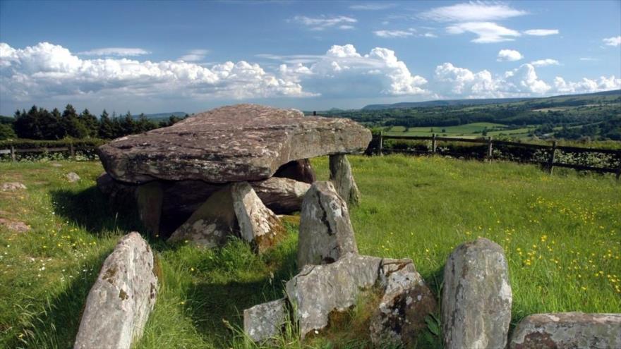 Tumba de Herefordshire, conocida como la piedra de Arturo. (Foto: Universidad de Mánchester)