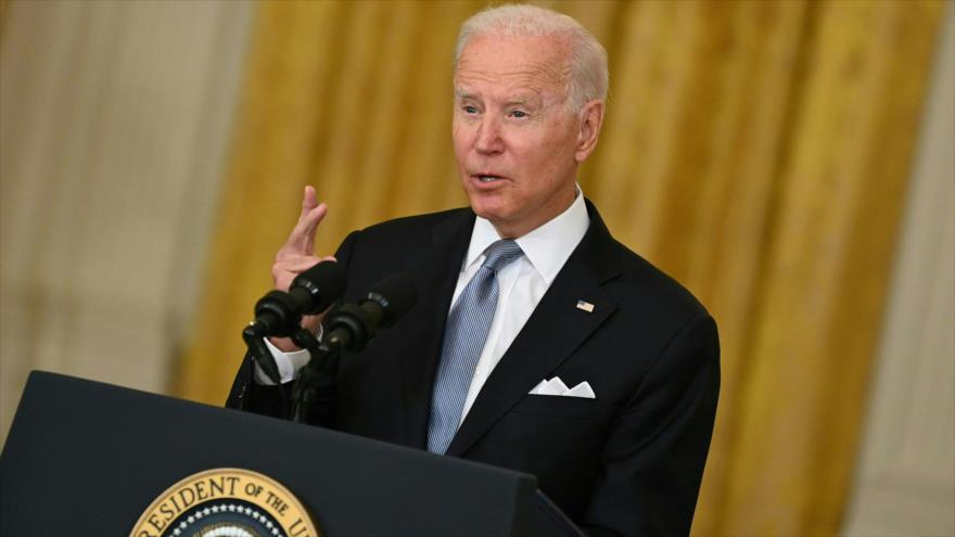 Biden rompe el silencio y defiende firmemente salida de Afganistán   HISPANTV