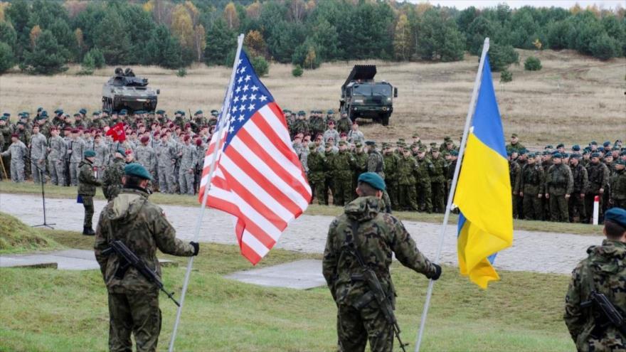 Las tropas estadounidenses y ucranias comienzan un ejercicio militar conjunto en la región de Lviv en el país europeo, septiembre de 2019.