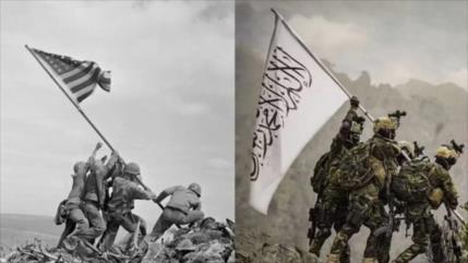Talibán se mofa de EEUU recreando icónica foto de II Guerra Mundial