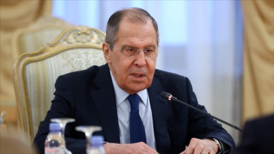 El canciller ruso, Serguéi Lavrov, en una reunión en Moscú, 2 de marzo de 2021. (Foto: AFP)