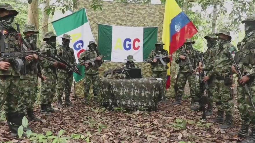 Paramilitares de la organización armada Autodefensas Gaitanistas de Colombia (AGC).