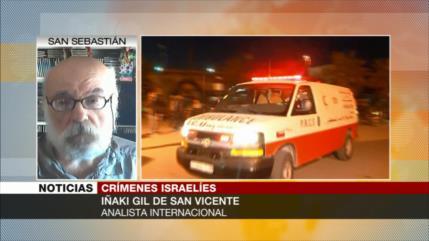 """Iñaki Gil: Israel está aplicando """"política de terror"""" contra palestinos"""