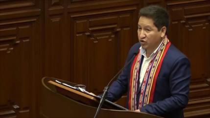 Bellido y su Gabinete piden el voto de confianza al congreso de Perú